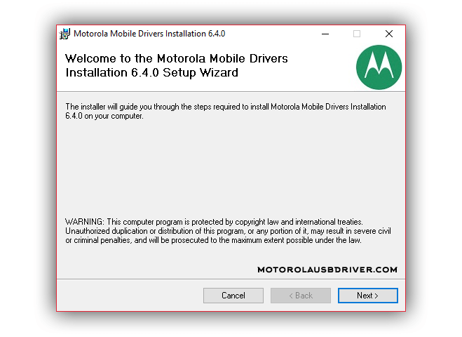Motorola Driver v6.4.0